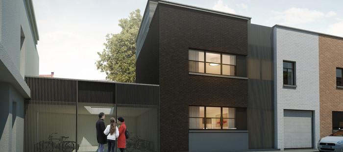Moderne nieuwbouwwoning met grote tuin in Gent