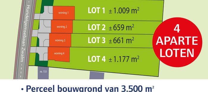 - Project grond met 4 aparte loten te Zwalm