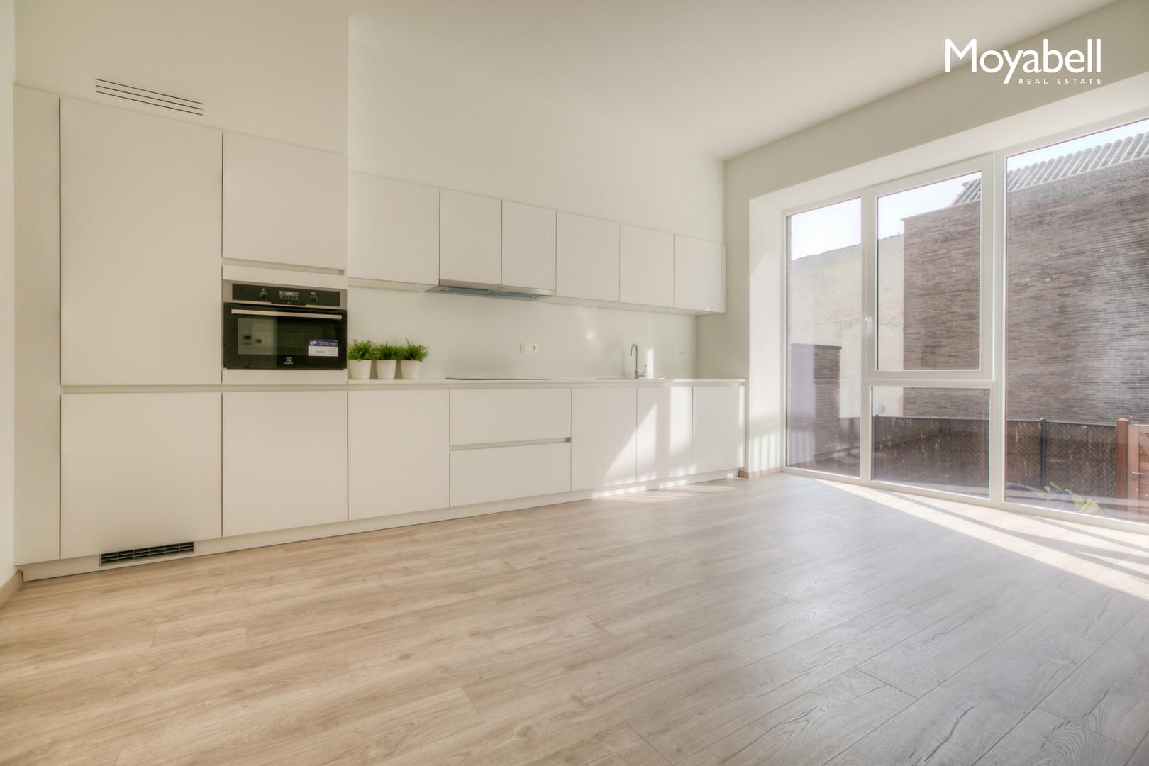 Nieuwbouwappartement in de kuip van Gent met 30 m2 zuidgericht terras