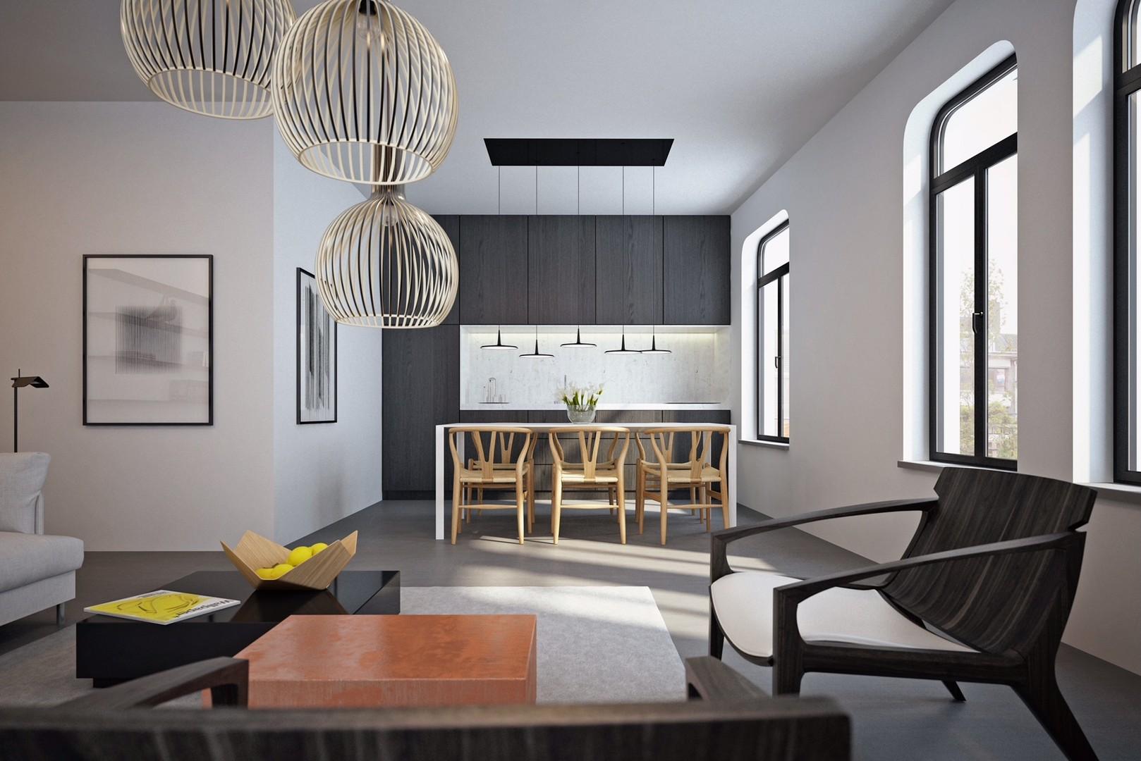 Modern 2 slaapkamer appartement in hartje Gent